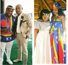 shweshwe wedding dresses 2018 Wedding Dresses 2018, Traditional Wedding, African Fashion, Sari, Design, Style, Weddings, Saree, Swag