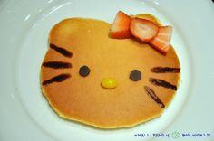 Small Family Big World: Fun Pancakes For Kids - Hello Kitty Pancakes