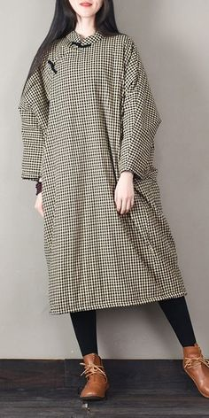 ffd889572b Women Loose Vintage Thicken Dresses Casual Winter Clothes M18246 Vintage  Winter