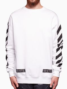 Blue collar sweatshirt from the Off-White c/o Virgil Abloh Off White Sweatshirt, Collared Sweatshirt, Off White Virgil Abloh, White C, 2 Boys, Black History Month, White Outfits, Kanye West, Hoodies