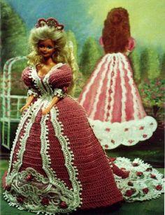 Crochet Fashion Doll Barbie Pattern 180 by JudysDollPatterns