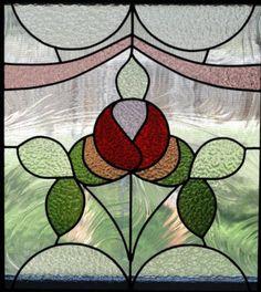 Edwardian Rose II - by Charis Studio Antique Stained Glass Windows, Stained Glass Flowers, Stained Glass Designs, Stained Glass Panels, Stained Glass Projects, Stained Glass Patterns, Leaded Glass, Stained Glass Art, Mosaic Art