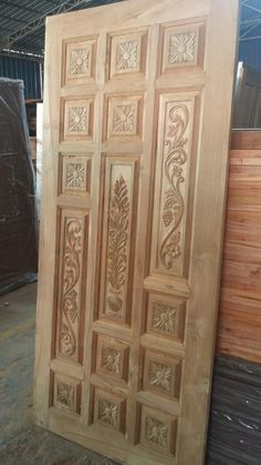 Single Door Design, Wooden Front Door Design, Home Door Design, Pooja Room Door Design, Door Gate Design, Door Design Interior, Wooden Front Doors, Interior Exterior, Furniture
