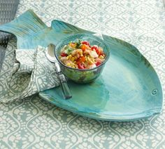 perfect for the beach house! Pesce Melamine Platter @ Pottery Barn $29.50
