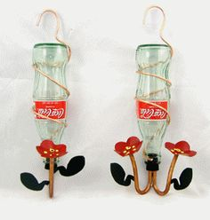 Coke bottle feeders... I think I found my new favorite thing to do with all the old coke bottles I have.