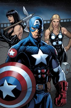 Captain America by Frank Cho