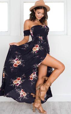 JRQIOT Floral Print Ruffles Chiffon Bohemian Beach Dresses