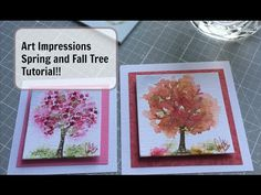 Art Impressions Rubber Stamps: Ai Wonderful Watercolor. Spring and Fall Tree Tutorial!! - YouTube