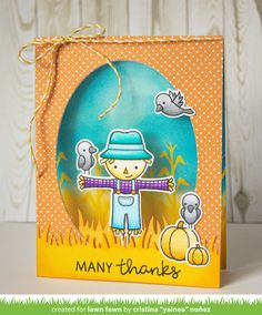 Lawn Fawn & Chameleon Pens Happy Harvest card by Yainea.