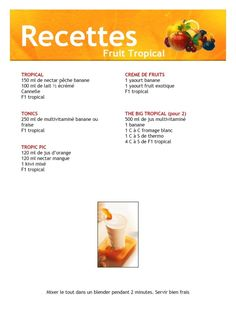 Herbalife F1, Nutrition Herbalife, Smoothies, Tropical, Healthy, Blog, Coaching, Images, Herbalife Recipes