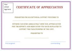 Nice editable certificate of appreciation template example with free certificate appreciation template purple border employee recognition awards best free home design idea inspiration yadclub Images