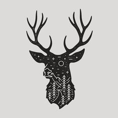 Last night I hit 10k followers so I just want to say thank you so much for the continued support it means the world!  This is another piece for @instaillustrate you'll be seeing on products soon! #graphicdesign #design #illustration #art #artwork #drawing #handdrawn #stag #antlers #nature #outdoors #travel #adventure #explore #slowroastedco by liamashurst