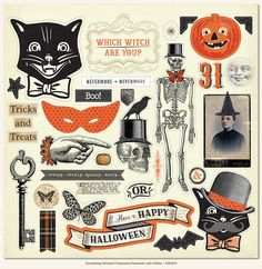 My Mind's Eye - Something Wicked Collection - Halloween - 12 x 12 Chipboard Stickers - Elements at Scrapbook.com