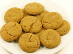 Gluten Free Molasses Ginger Cookies