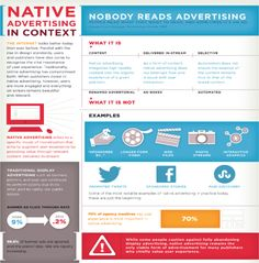 Native Advertising in Context: Nobody Reads Advertising. People Read What They Want to Read And Sometimes it's an Ad! Native Advertising, Radio Advertising, Advertising Industry, Online Advertising, Content Marketing, Social Media Marketing, Social Networks, Nativity, Language