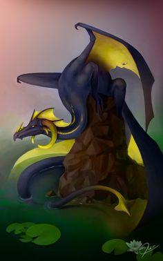toxic dragon, yellow, fantasy, evil, wiiolis