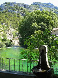 Fontaine de Vaucluse, in the South of France, is one of the most beautiful, peaceful places I have ever seen.