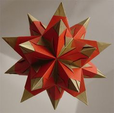 Origami Maniacs: Origami Bascetta Star by Paolo Bascetta