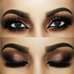 Brown Gold Smokey ❤ liked on Polyvore featuring beauty products, makeup, eye makeup, eye brow makeup, eyebrow makeup, brow makeup and eyebrow cosmetics