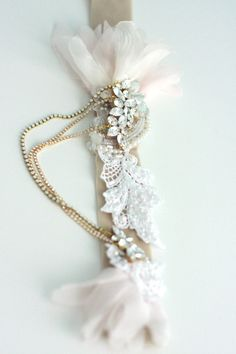 Flutter and dangle bridal belt - Style # 229 | Belts | Twigs & Honey ®, LLC