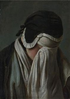 Portrait of a Young Girl Hiding Her Eyes by Pietro Antonio Rotari (1707-1762)