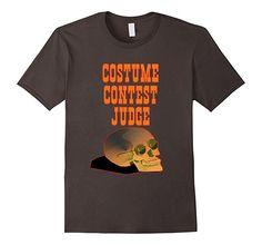 Mens Halloween Costume Contest Judge T-Shirt 2XL Asphalt