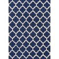 Hand-hooked Casablanca Blue Polyester Rug | Overstock.com Shopping - The Best Deals on 5x8 - 6x9 Rugs