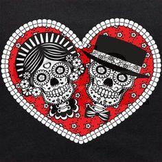 sugar skull couple | sugar_skull_couple_maternity_tank_top.jpg?color=Black&height=460&width ...