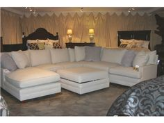 Goods Furniture Outlet   Hickory Margo 6 Pc Sectional By Sam Moore 1470/ 71