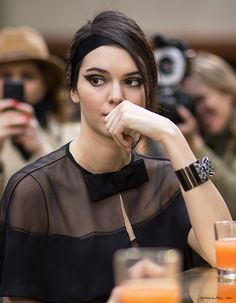 Chanel FW2015, Vogue editors, Paris Fashion Week, Brasserie Gabrielle, Kendall Jenner / Garance Doré