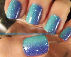 Ombre/Gradiant Tutorial http://abnormnailbehavior.blogspot.com
