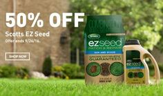 Lowes Scot's EZ Seed  (Grass seed)-  50% off selection varies by store #LavaHot http://www.lavahotdeals.com/us/cheap/lowes-scots-ez-seed-grass-seed-50-selection/117489