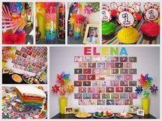rainbow birthday party - Căutare Google