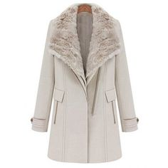 Modern Style Lapel Collar Zipper One-Button Solid Color Waistcoat And Overcoat Women's Twinset, BEIGE, S in Jackets & Coats | DressLily.com