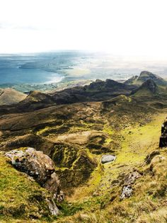 Isle of Skye, in the Scottish Highlands. Can look like Middle Earth from LoTR. :D