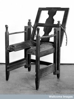 Parturition (childbirth)  chair, Swiss.  18th century M0007448 Credit: Wellcome Library, London