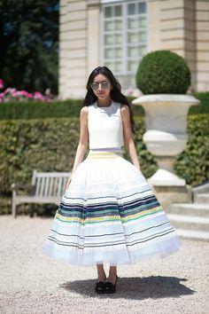 Dior top and skirt   - HarpersBAZAAR.com