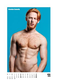 #redhot #redheads - Mr April Capture the spirit of the RED HOT exhibitions and tour in a calendar for anyone who appreciates hot men with red hair. £20