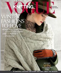 Here's a sneak peek at our Winter cover! This luscious wrap was knit by in Cocoon yarn. Issue on sale January # Vogue Knitting, Knitting Books, Crochet Books, Free Knitting, Knit Crochet, Small Knitting Projects, Knitting Designs, Knitting Magazine, Crochet Magazine