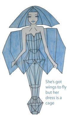 She's got wings to fly but her dress is a cage Collage, My Friend, Friends, Illustration, Disney Characters, Fictional Characters, Aurora Sleeping Beauty, Wings, Disney Princess