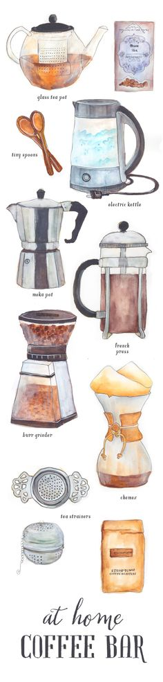 Essential items for your at home coffee bar.