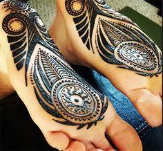 Feet Soles Henna Tattoo #henna #mehndi