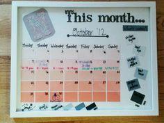 paint chip calendar...success!