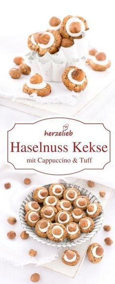 Kekse Rezept: Schnell, einfach und lecker sind diese Haselnuss Kekse mit Capuccino und Tuff!   #kekse #weihnachten #backen #rezept #foodblog #cookies #plätzchen