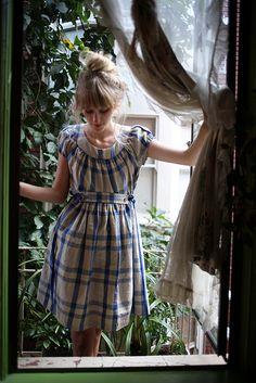 striped dress #dress #blue #fashion