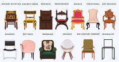 Gallery of See How the Design of Chairs, Beds and Sofas Have Evolved Through History - 1 High Back Accent Chairs, Accent Chairs Under 100, Accent Chairs For Living Room, Wooden Swing Chair, Swinging Chair, Swing Chairs, Rococo, Baroque, Bauhaus