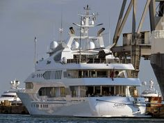 """The 77-meter luxury yacht """"Samar"""", with helicopter"""