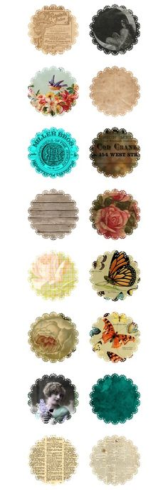 103 doily printable in various patterns:
