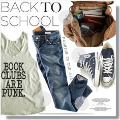 Book Clubs Are Punk :) by myfashionwardrobestyle on Polyvore featuring HM, Converse, womens clothing, womens fashion, women, female, woman, misses and juniors