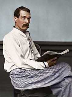 Captain Sir Richard Francis Burton KCMG FRGS was an English geographer, explorer, translator, writer, soldier, orientalist, cartographer, ethnologist, spy, linguist, poet, fencer and diplomat. 19 March 1921 to 20 October 1890. Photographed in 1864. Photographer not known. Colourisation from black and white.
